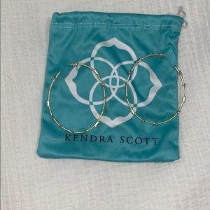 Kendra Scott Gold hoop earrings